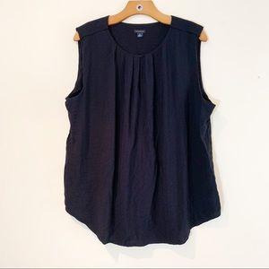 Ann Taylor Black Sleeveless Blouse XL